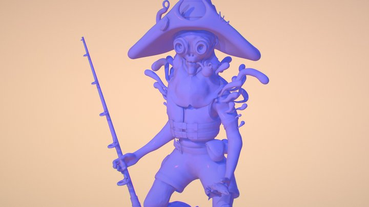 FisherMan 3D Model