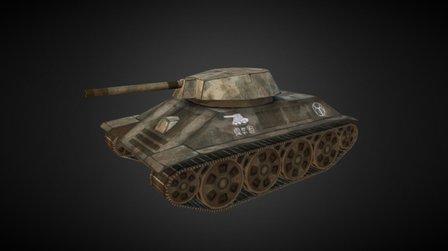 LowPoly Tank 3D Model