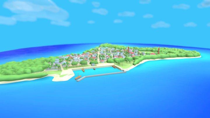 Freshwater lens, Maldivian island: Th.Kinbidhoo 3D Model