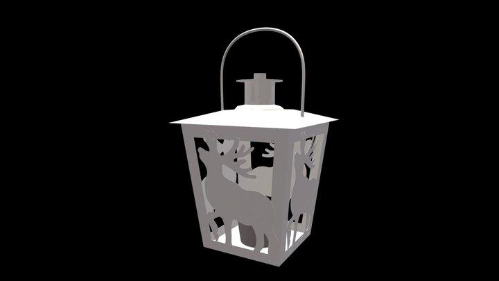 Lantern, Christmas lantern 3D Model