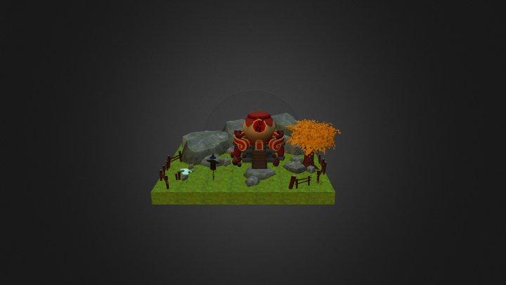 mini map 3D Model