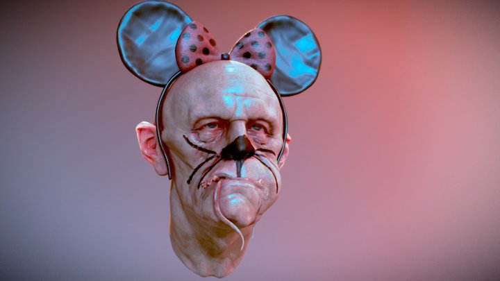 Mouse Eater for Subsurface Scattering Demo 3D Model
