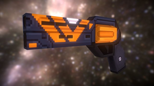 The Devil You Know - Destiny HandCannon Low Poly 3D Model