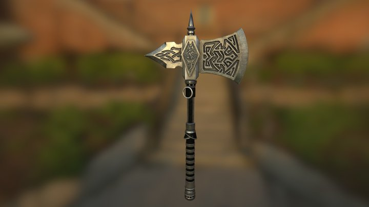 Gifts Of Akatosh Axe 3D Model