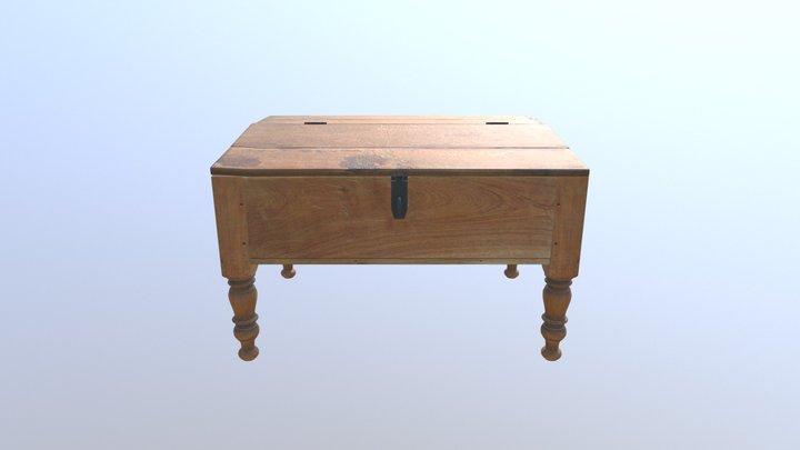 Brown Desk 3D Model