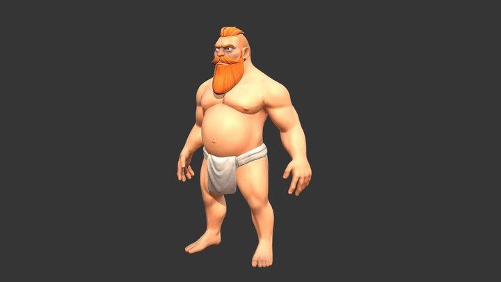 Dwarf Gladiator 3D Model