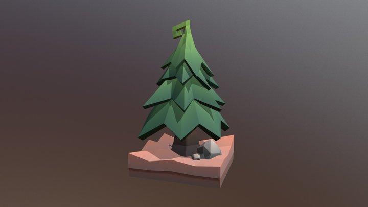 Low Poly Tree: The Swirly Fir Tree 3D Model
