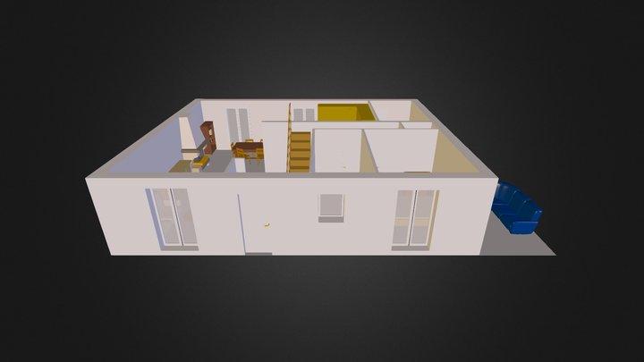 maison_sans_mur_cuisine.obj 3D Model