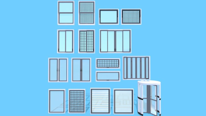 Animated Window Systems 3D Model
