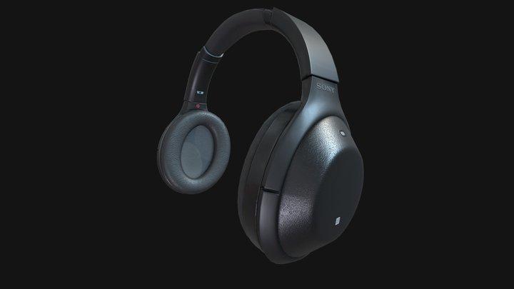 SONY MDR 1000X BLACK 3D Model