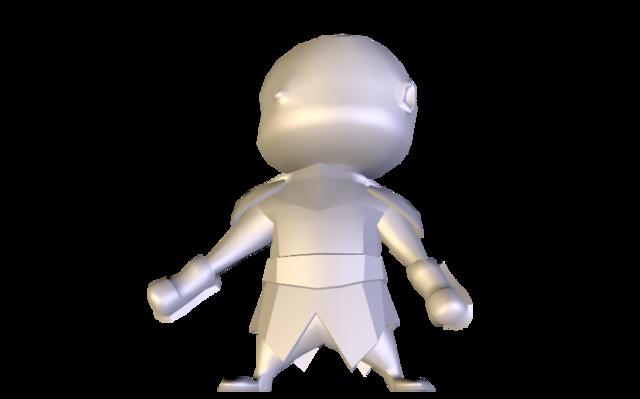 ChibiXel_3DC.obj 3D Model