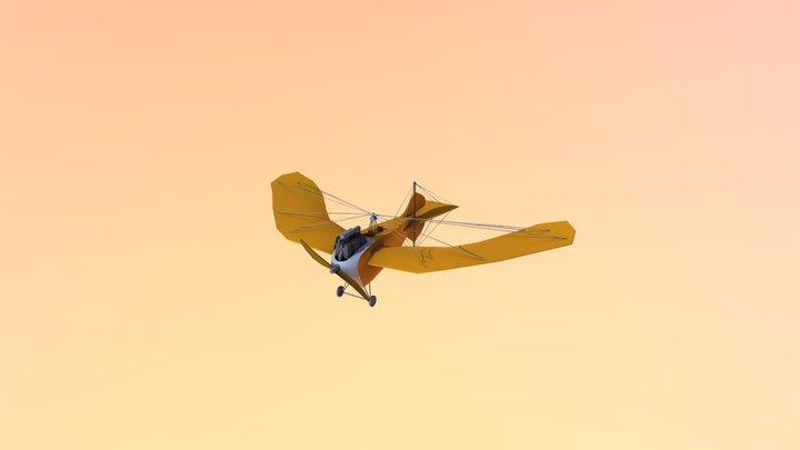 Stylized WWI Aeroplane (Jeaninne Stahltaube) 3D Model