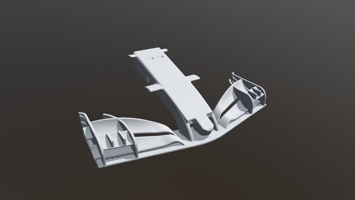 F1 2018 front wing 3D Model
