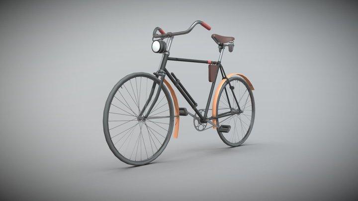 Old German bike 3D Model