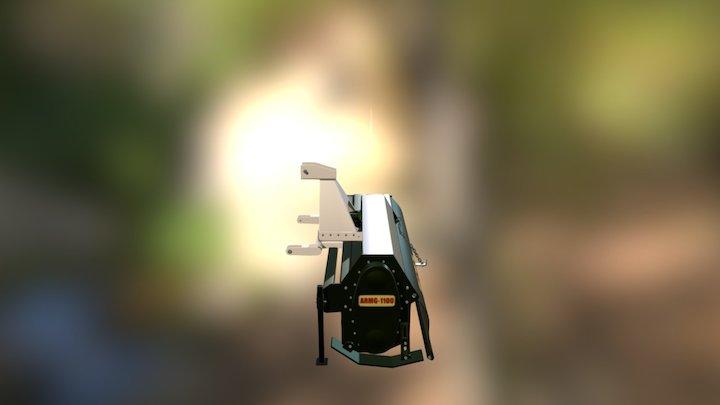 Mini Rotary Tiller 3D Model