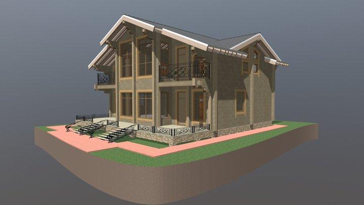 ЛАДОГА -  жилой дом из клееного бруса 3D Model