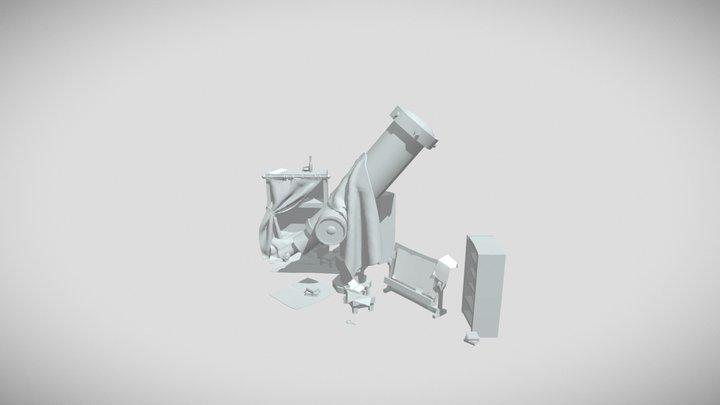 XYZ School 3 homework - Wizard Room 3D Model