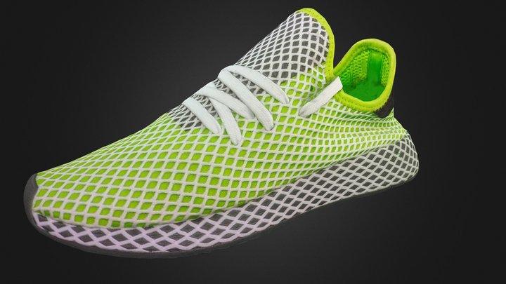 Adidas Deerupt Lime Green Sneaker Shoe 3D Model