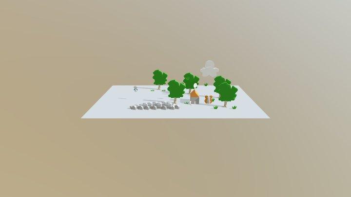 3D Model Beri's Drawing 3D Model