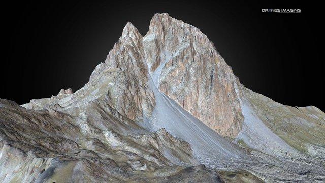 Pic du midi d'Ossau 3D - France 3D Model