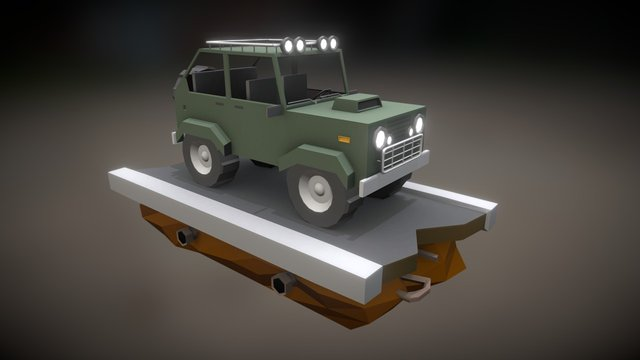 Low Poly Car 3D Model