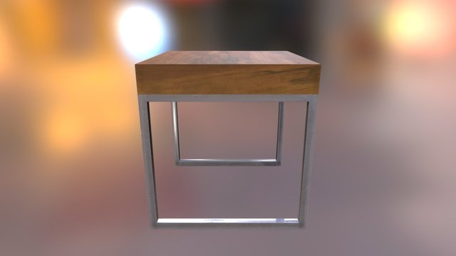 Simple Table 3D Model