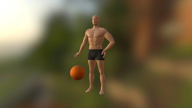 沙灘排球男 3D Model