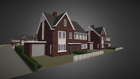 Housing development design, the Netherlands 3D Model