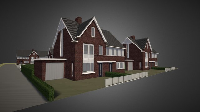 Housing development design, the Netherlands 3D Model
