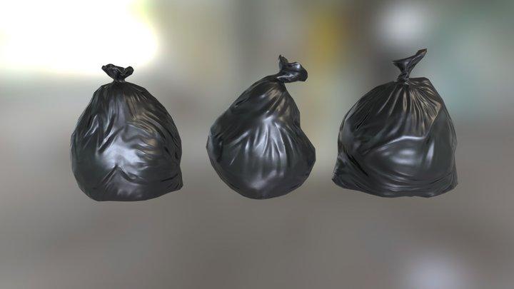 Garbagebag Set A - Low Poly 3D Model 3D Model