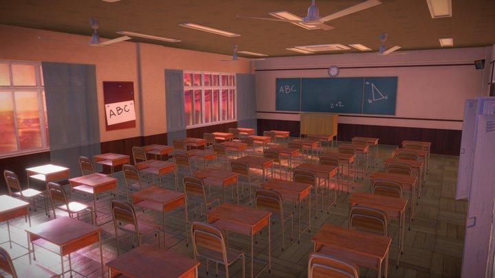 Sunset classroom 3D Model