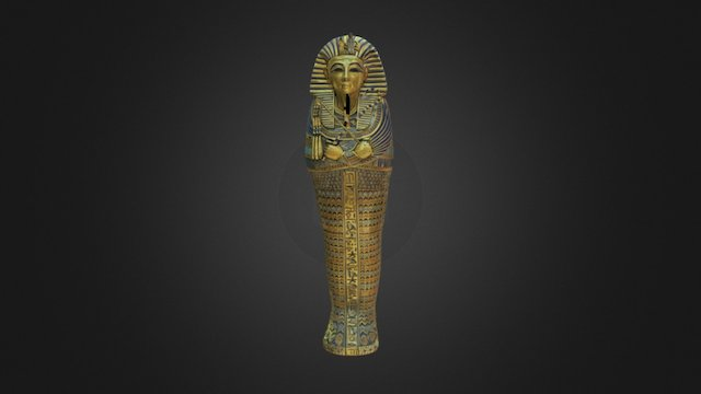 Coffinette of Tutamkhamun 3D Model