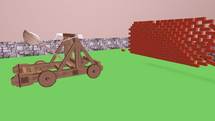 3D Catapult Animation 3D Model