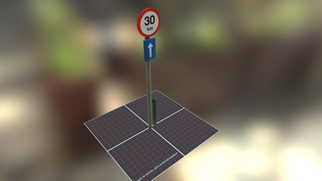Prop Street pole + part chain pole 3D Model