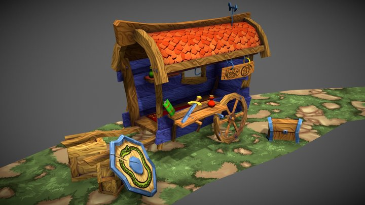 Magic Cart 3D Model