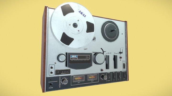 Vintage Reel to Reel 3D Model