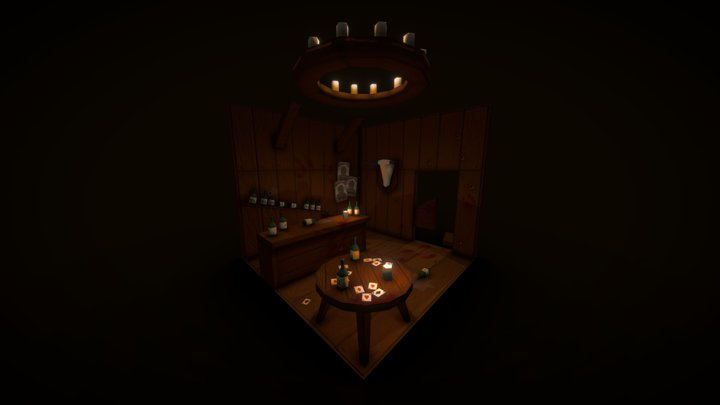 Wester Saloon Cubicle 3D Model