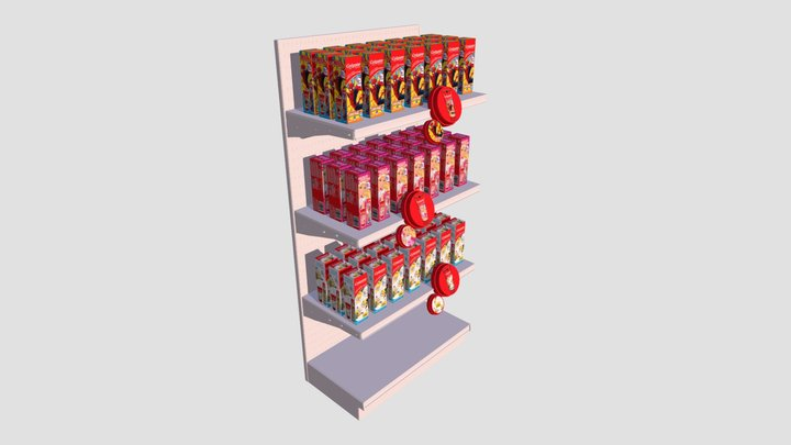 3D Shelf Talker 3D Model