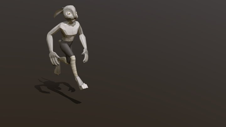 Lepus the Fierce - running cicle 3D Model