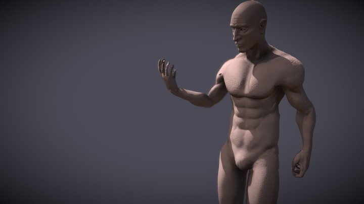 Athletic Average Male Sculpt 3D Model