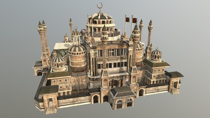 A fantasy Imperial Palace 3D Model