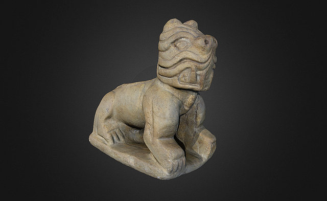 Moundville Panther Effigy 3D Model
