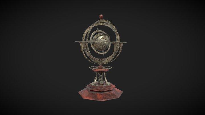 Antique Astronomy Tool 3D Model