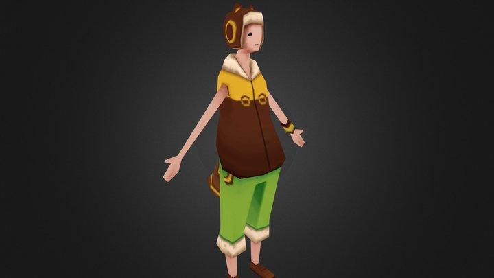 TGA - Amanda Elm - Racoon Boy 3D Model
