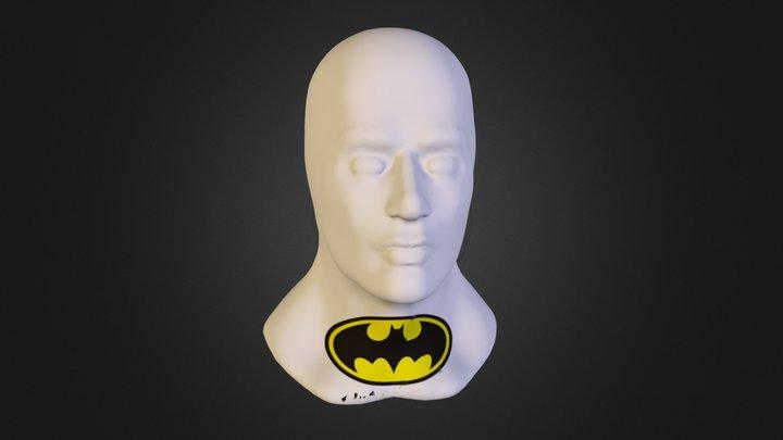 Test Head with Batman Logo 3D Model
