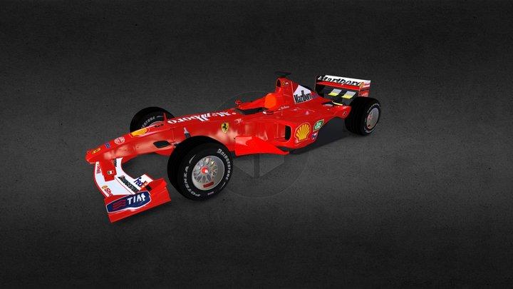 Ferrari F1 2000 3D Model