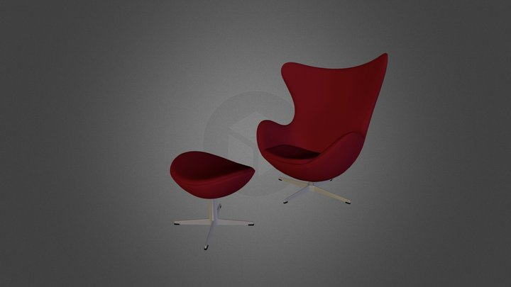 Fritz Hansen Egg Chair 3D Model
