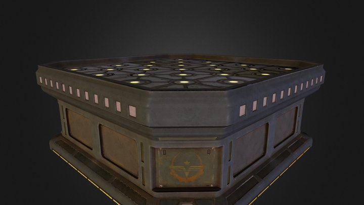Holographic Display Table 3D Model
