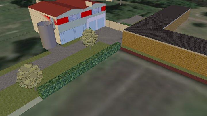 DLRG 4G 4hoch&parallel Rettungswache 3D Model