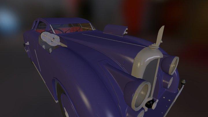 Vintage Automobile Untextured Model 3D Model